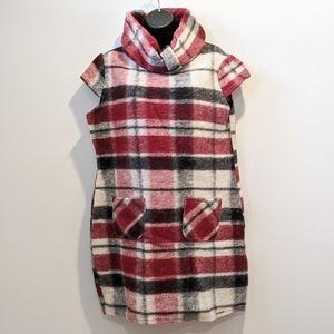 Rinascimento wool blend plaid tunic XL